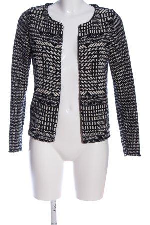 H&M Kurz-Blazer schwarz-weiß Casual-Look