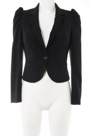 H&M Kurz-Blazer schwarz Business-Look