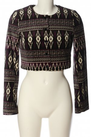 H&M Short Blazer abstract pattern casual look