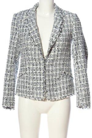 H&M Kurz-Blazer weiß-schwarz Casual-Look