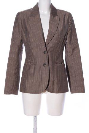 H&M Kurz-Blazer braun Streifenmuster Business-Look