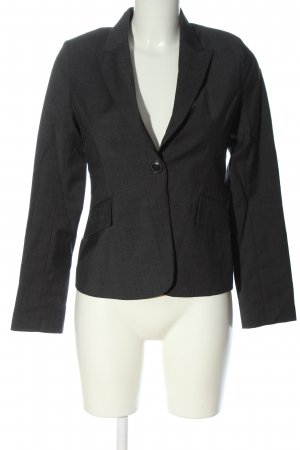 H&M Korte blazer zwart gestippeld casual uitstraling