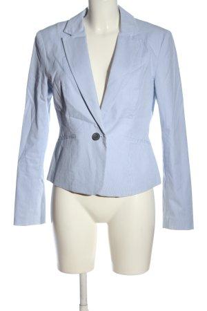 H&M Kurz-Blazer blau-weiß Streifenmuster Business-Look