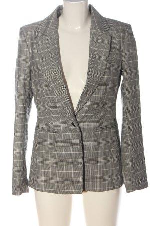 H&M Kurz-Blazer schwarz-wollweiß Karomuster Business-Look
