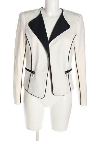 H&M Kurz-Blazer weiß-schwarz Business-Look