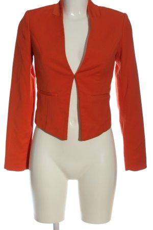 H&M Kurz-Blazer rot Streifenmuster Casual-Look