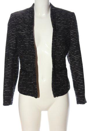 H&M Kurz-Blazer schwarz-weiß meliert Casual-Look