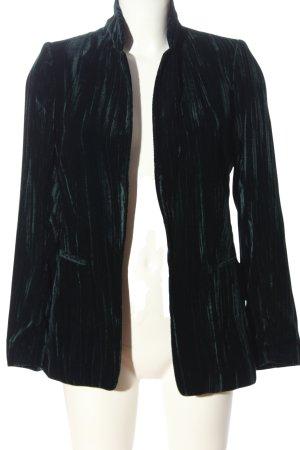 H&M Kurz-Blazer schwarz-grün Farbverlauf Casual-Look