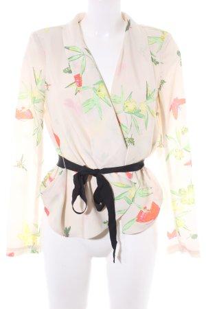 H&M Kurz-Blazer florales Muster Casual-Look