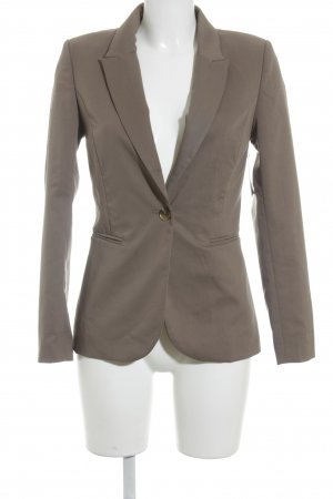 H&M Kurz-Blazer graubraun Business-Look
