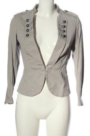H&M Korte blazer lichtgrijs elegant