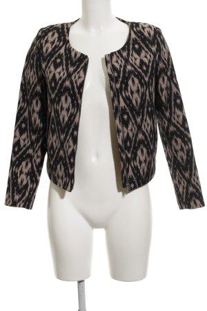 H&M Kurz-Blazer schwarz-beige Business-Look