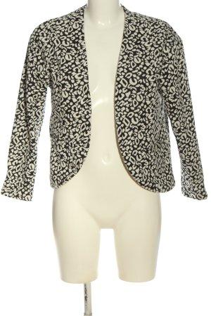 H&M Kurz-Blazer schwarz-weiß abstraktes Muster Casual-Look