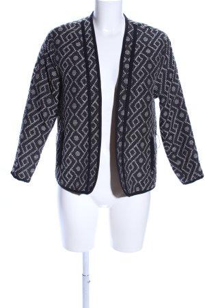 H&M Kurz-Blazer schwarz-weiß Allover-Druck Casual-Look