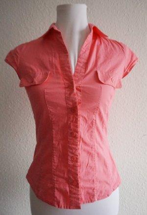 H&M kurzärmelige Bluse pink Casual-Look