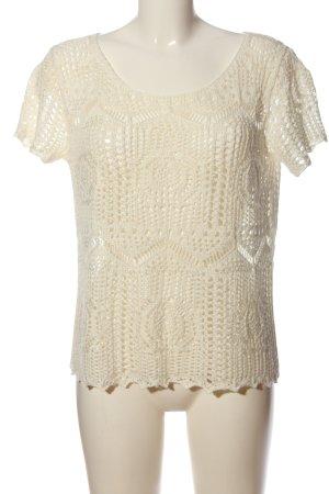 H&M Camicetta all'uncinetto bianco sporco modello web stile casual