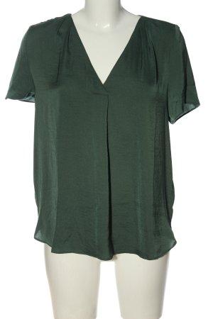 H&M Kurzarm-Bluse khaki Business-Look