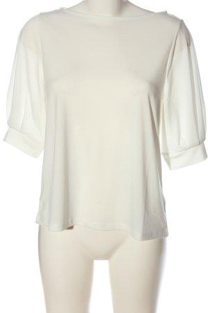 H&M Kurzarm-Bluse creme Casual-Look