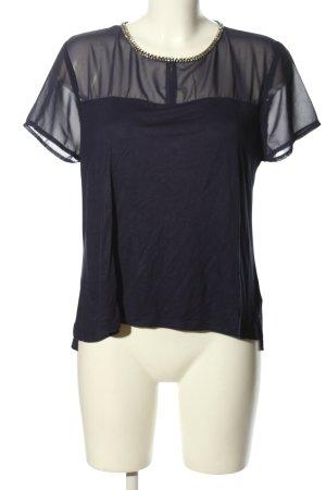 H&M Kurzarm-Bluse blau Elegant