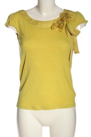 H&M Kurzarm-Bluse blassgelb Casual-Look