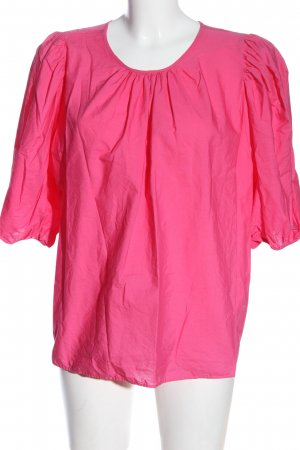 H&M Kurzarm-Bluse pink Elegant