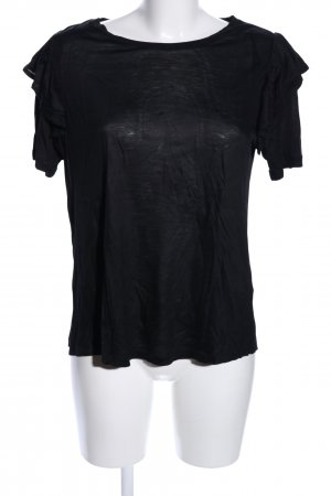 H&M Kurzarm-Bluse schwarz Casual-Look