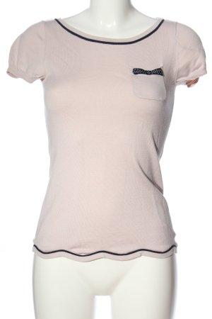 H&M Kurzarm-Bluse pink-blau Casual-Look
