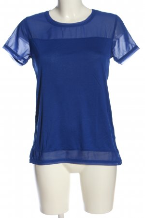 H&M Kurzarm-Bluse blau Business-Look