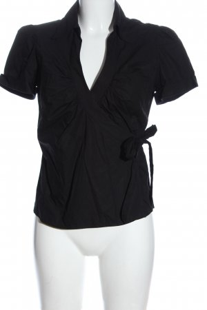 H&M Bluzka z krótkim rękawem czarny W stylu casual