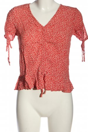 H&M Schlupf-Bluse rot Allover-Druck Casual-Look