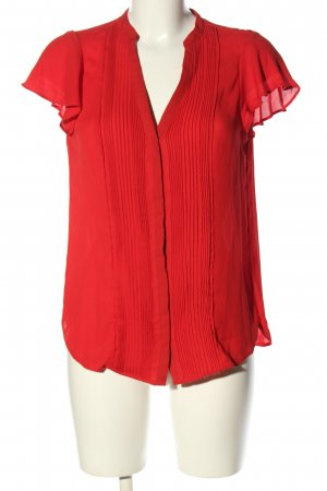 H&M Kurzarm-Bluse rot Casual-Look