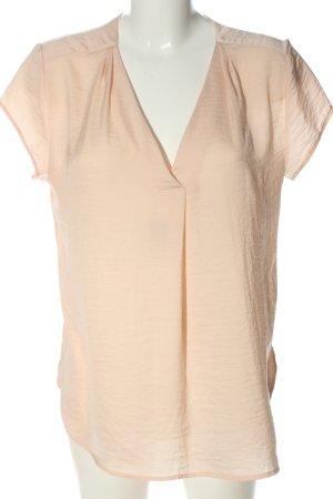 H&M Kurzarm-Bluse nude Casual-Look