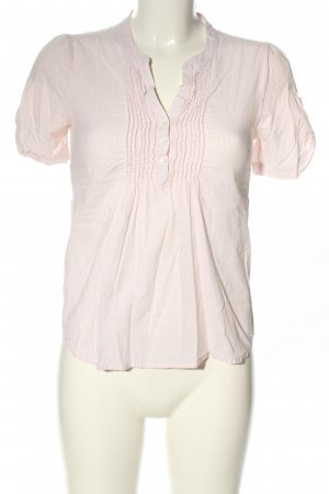 H&M Kurzarm-Bluse pink Streifenmuster Casual-Look