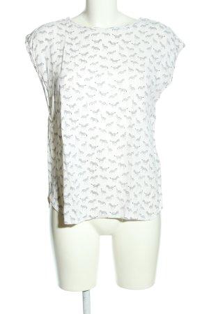 H&M Camicetta a maniche corte bianco-grigio chiaro stampa integrale stile casual