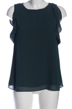 H&M Kurzarm-Bluse grün Business-Look