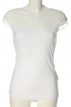 H&M Short Sleeved Blouse white flower pattern casual look