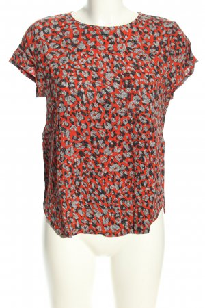 H&M Kurzarm-Bluse abstraktes Muster Business-Look