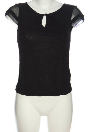 H&M Kurzarm-Bluse schwarz Casual-Look