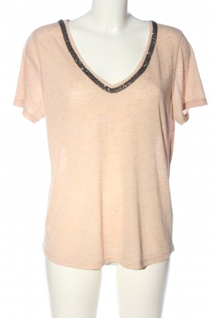 H&M Kurzarm-Bluse creme meliert Casual-Look