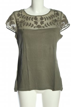 H&M Kurzarm-Bluse khaki Casual-Look