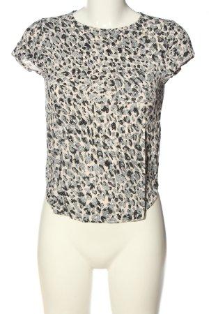 H&M Kurzarm-Bluse mehrfarbig Casual-Look