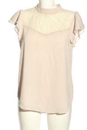 H&M Kurzarm-Bluse creme Business-Look