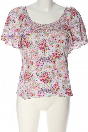 H&M Kurzarm-Bluse Allover-Druck Casual-Look