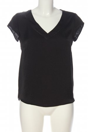 H&M Kurzarm-Bluse braun Casual-Look