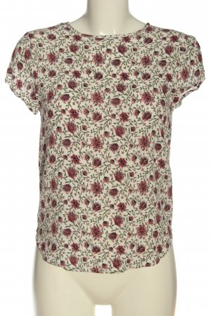 H&M Kurzarm-Bluse Allover-Druck Business-Look