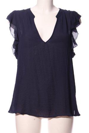 H&M Kurzarm-Bluse blau Casual-Look