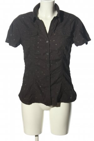 H&M Kurzarm-Bluse braun Punktemuster Casual-Look