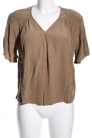 H&M Kurzarm-Bluse bronzefarben Allover-Druck Business-Look