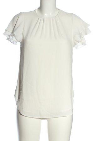 H&M Kurzarm-Bluse weiß Casual-Look
