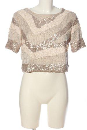H&M Kurzarm-Bluse silberfarben-creme Casual-Look